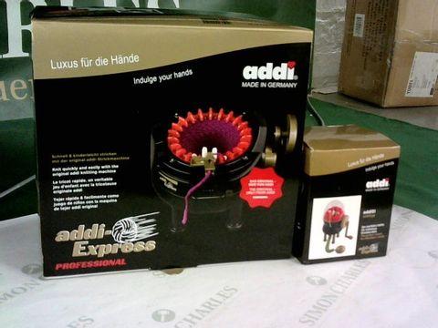 Lot 8262 2 ADDI EXPRESS KNITTING MACHINES