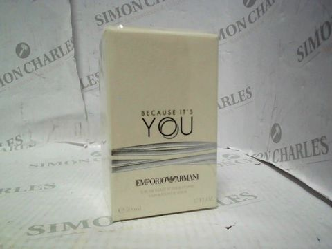 Lot 5052 BRAND NEW AND SEALED EMPORIO ARMANI BECAUSE IT'S YOU EDP 50ML