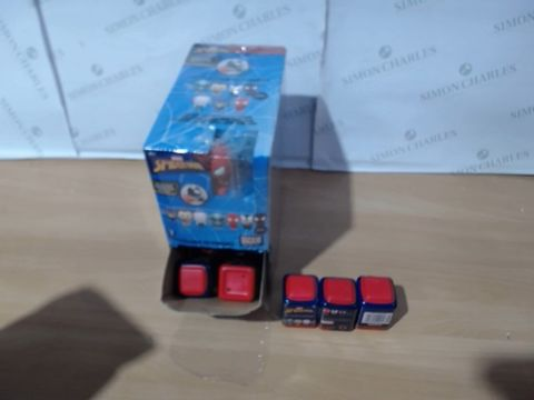 Lot 1112 BOX OF APPROXIMATELY 24 SPIDERMAN GRAVITY FEED PUZZLE PALZ