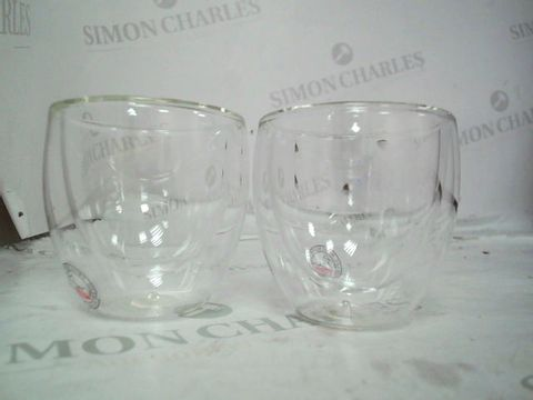 Lot 9018 BODUM PAVINA DOUBLE WALLED THERMO GLASSES 0.08 L, 2.5 OZ,
