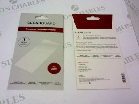 Lot 239 A BRAND NEW BOX OF APPROXIMATELY 14 CLEAR GUARD TRANSPARENT FILM SCREEN PROTECTOR FOR HUAWEI P30 LITE