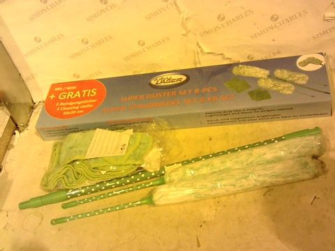 Lot 1029 AQUA LASER DUSTER SET WITH EXTENDABLE HANDLE-GREEN