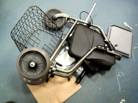 Lot 7611 HOMECRAFT FOLDING THREE WHEELED ROLLATOR, TRI WALKER WITH LOCKABLE CABLE BRAKES
