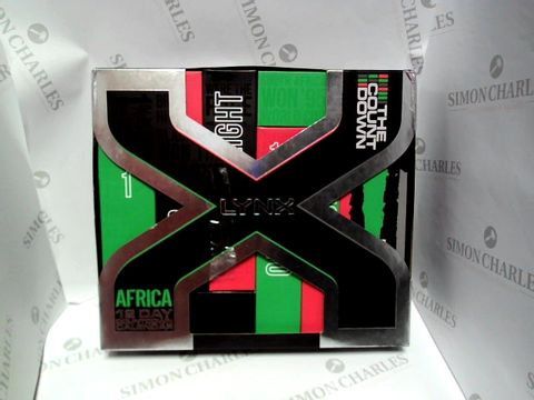 Lot 9107 LYNX AFRICA COUNTDOWN 12 DAY CALENDAR GIFT SET