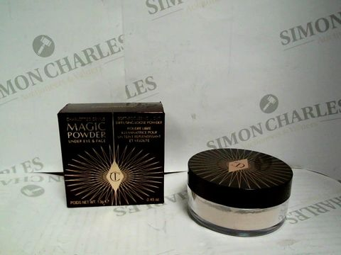 Lot 7348 CHARLOTTE TILBURY - CHARLOTTE'S GENIUS MAGIC POWDER UNDER EYE & FACE - 13G  RRP £33.00
